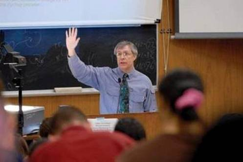 Unknown source and subject. Possibly a stock photo of a random college professor.