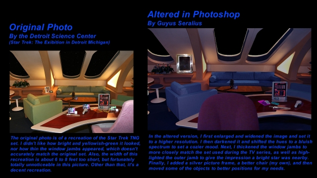 Captain's Quarters Photo Comparison