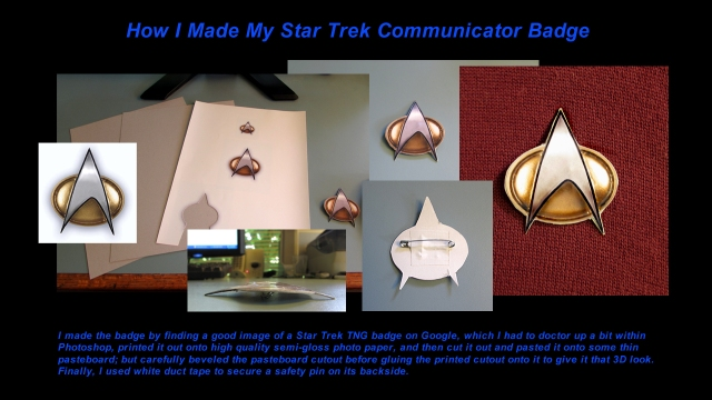 How I Made My Star Trek Communicator Badge