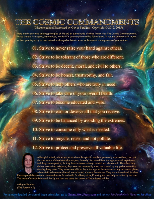 The Cosmic Commandments by Guyus Seralius